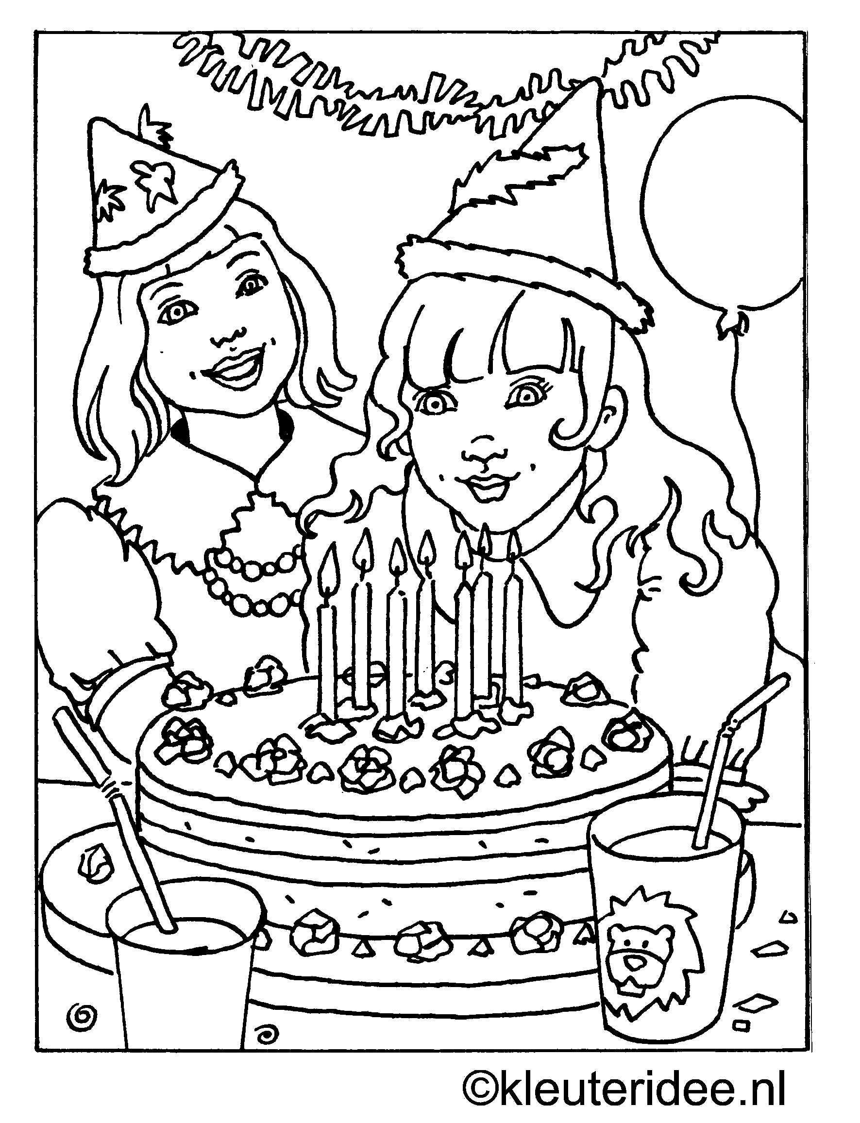 Kleurplaat Verjaardag Kleuteridee Nl Jpg 1 771 2 313 Pixels Kleurplaten Kleuren Thema