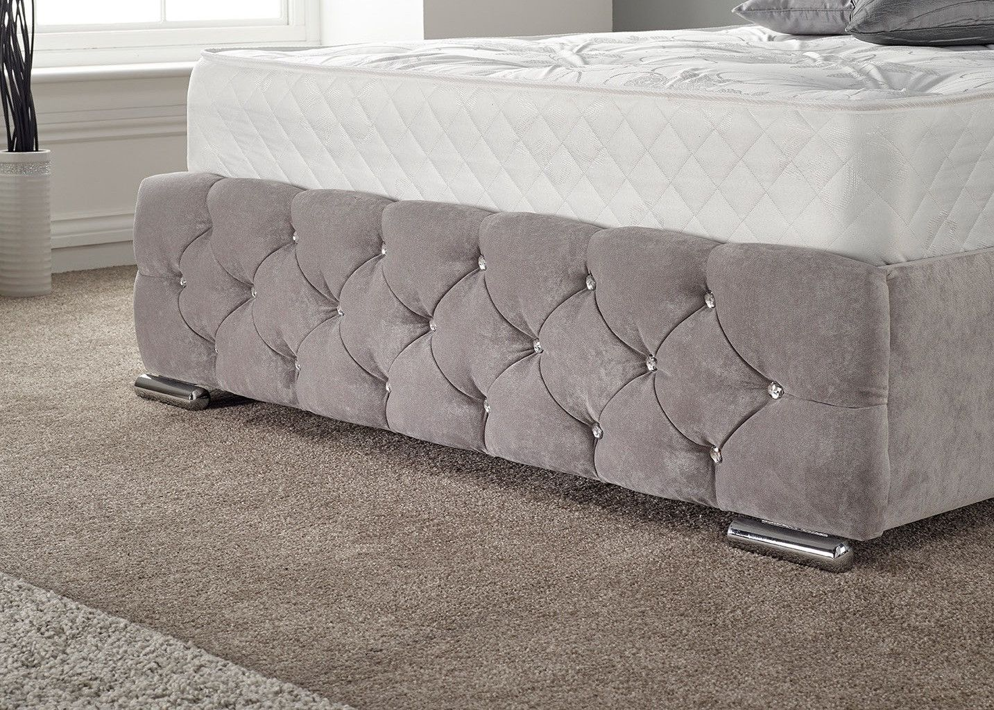 Marseille Bedroom Furniture Marseille Upholstered Bed End Naples Seal Grey Babateen Childrens