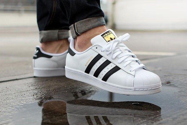 Adidas Superstar Herren & Damen's Originals Turnschuhe C77124 Weiß /Schwarz