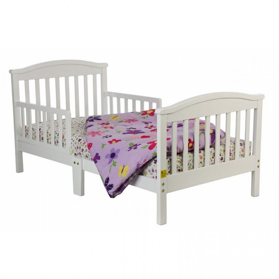 Dream On Me Mission Style Toddler Bed In White 647 W Toddler Bed Toddler Beds Kid Beds