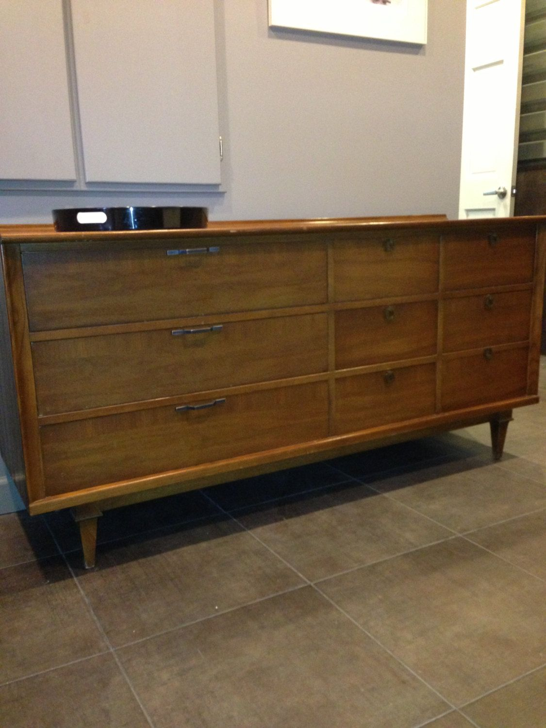 SALE Distinguished Stanley Credenza Or Dresser With Cane Mirror Mid Century  Modern Quality Furniture.