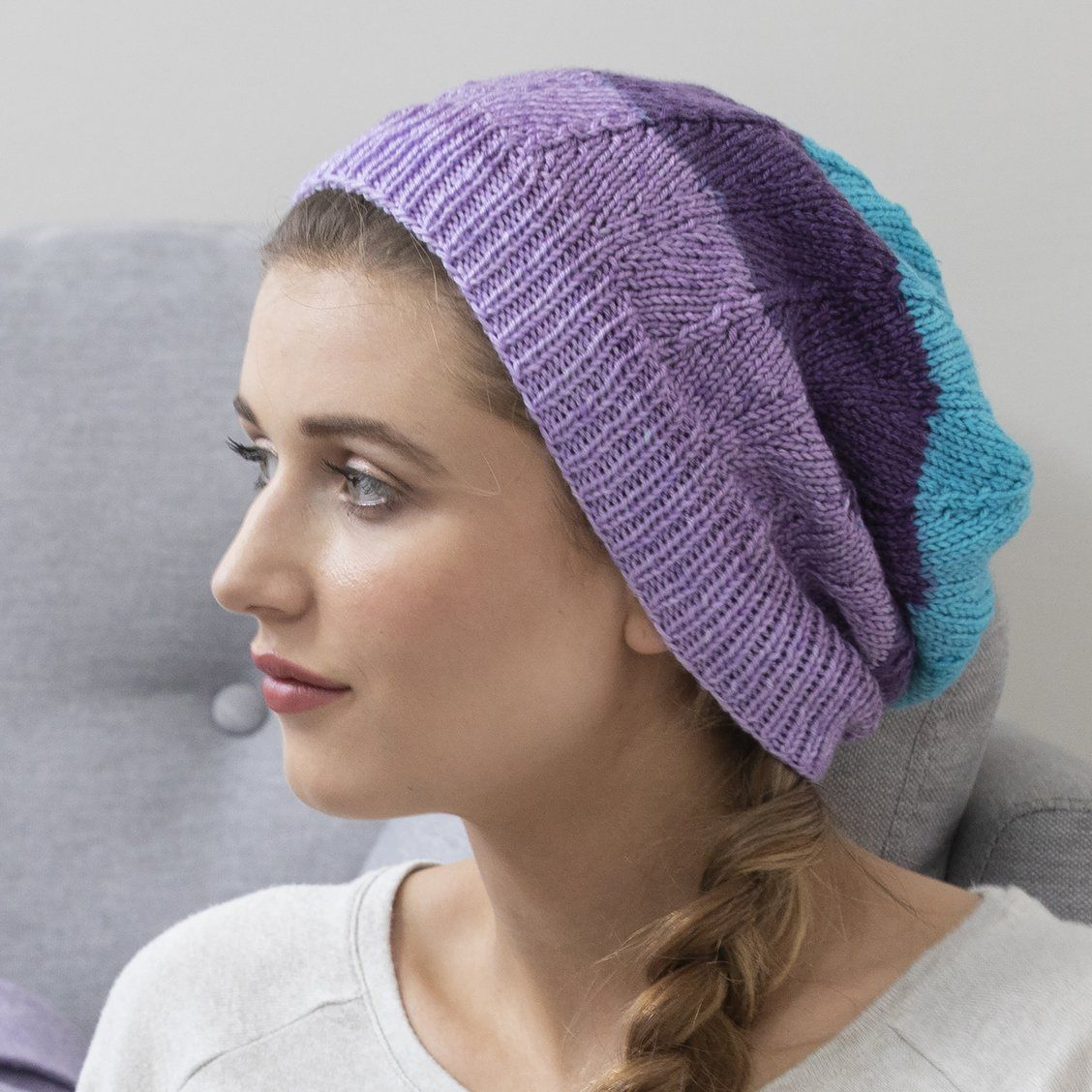 Knitting Patterns Galore - Slouchy Chevron Hat | Knit or ...