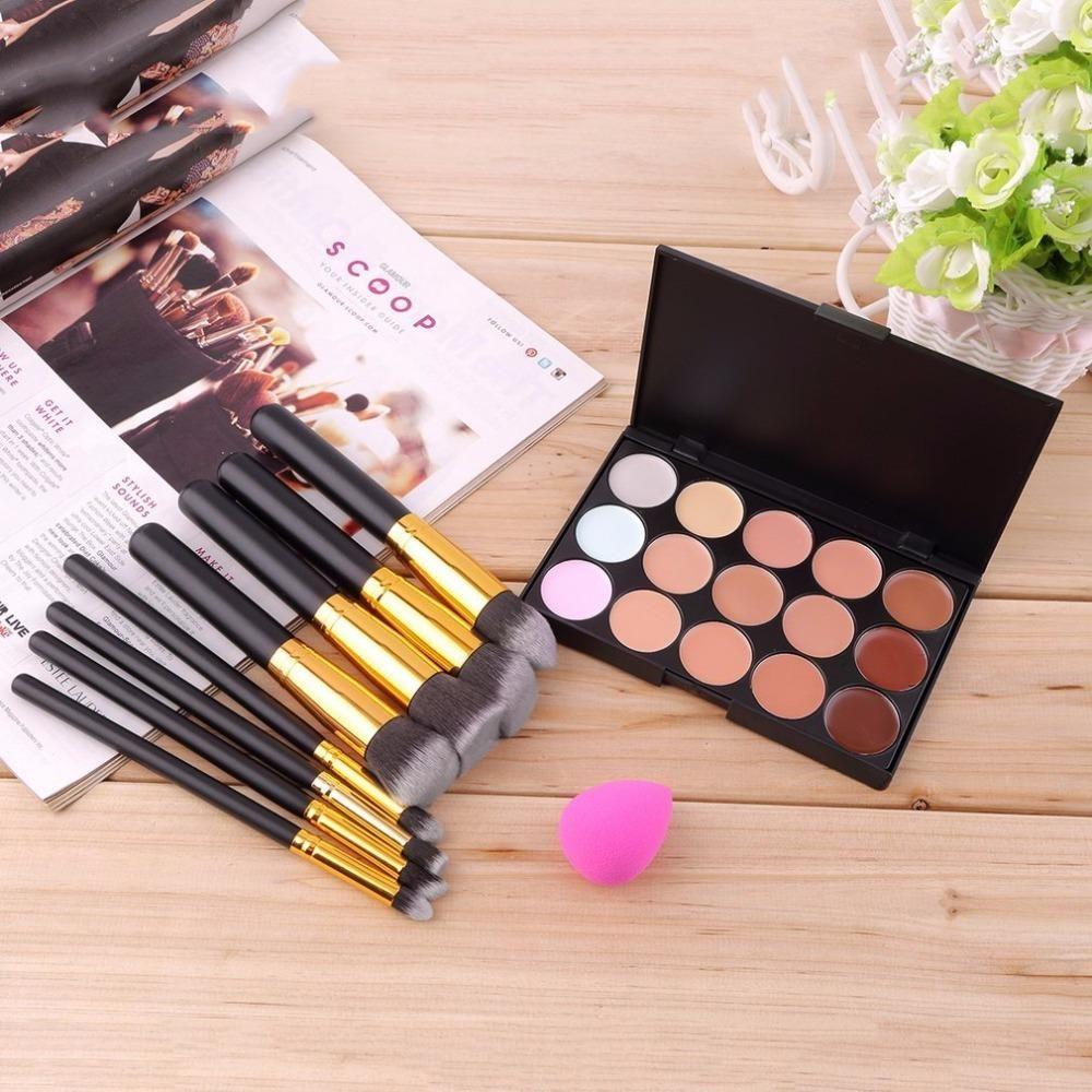 2017 Pro Cosmetics Makeup Set 15 Colors Face Contour