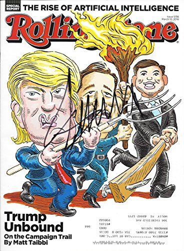 AUTOGRAPHED Donald Trump (2016 Republican Presidential Candidate) ROLLING STONE: TRUMP UNBOUND (March 10, 2016) Rare Signed 9X11 Inch Full Magazine with COA