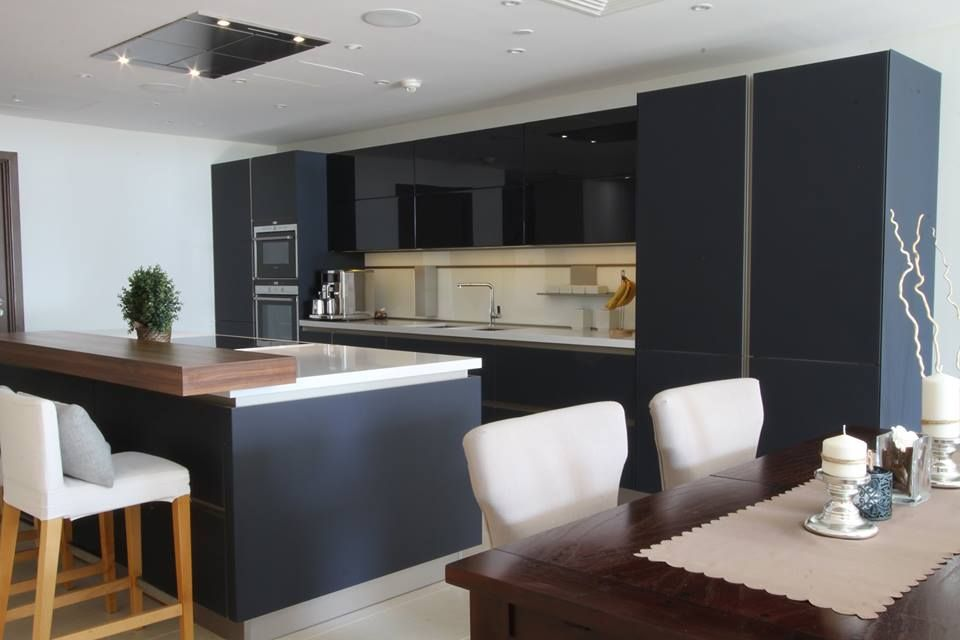 Black Lava laminated Kitchen Goettling German Kitchen Design
