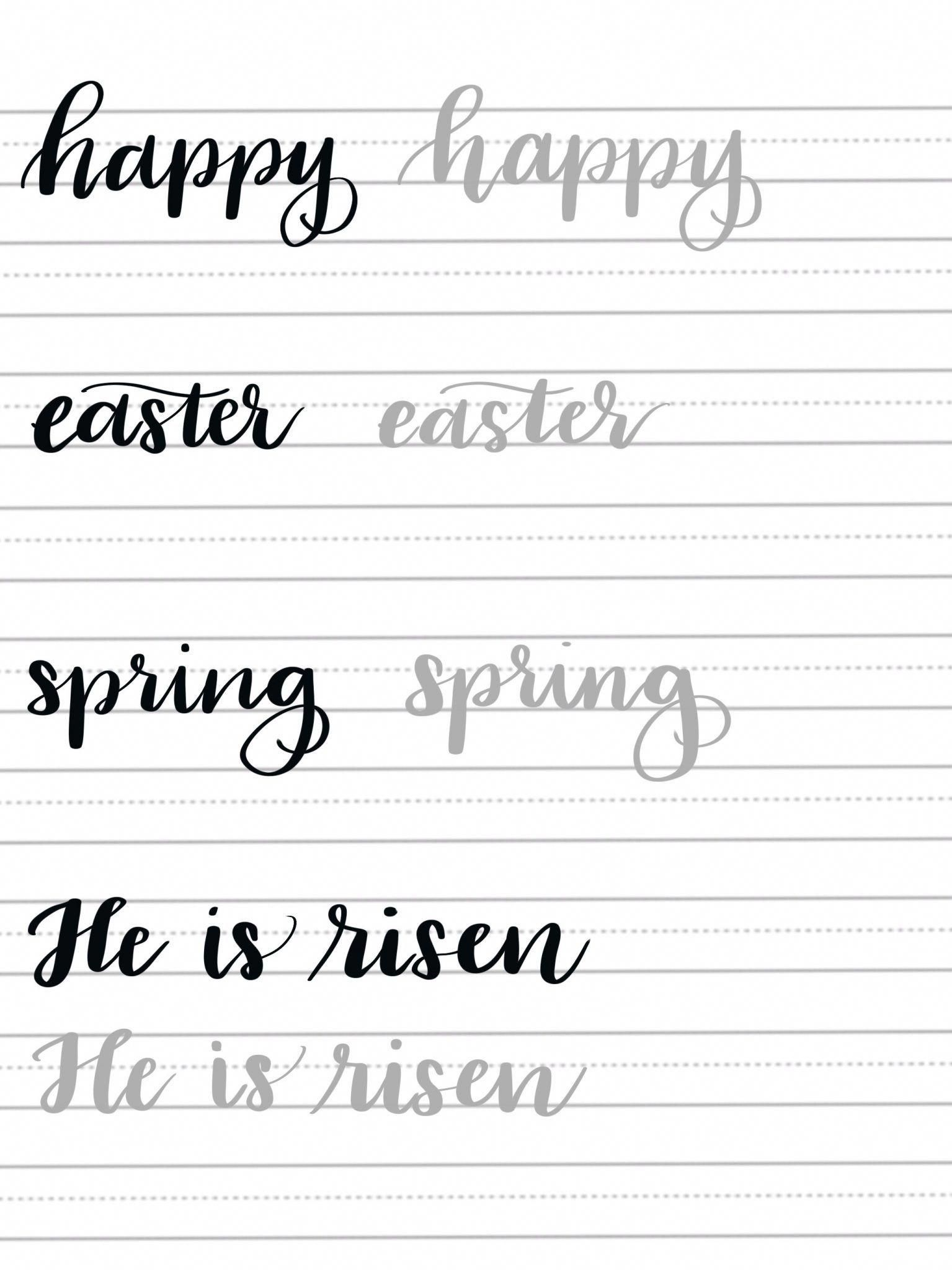 Spring Hand Lettering Practice Page Caligrafia Para Iniciantes