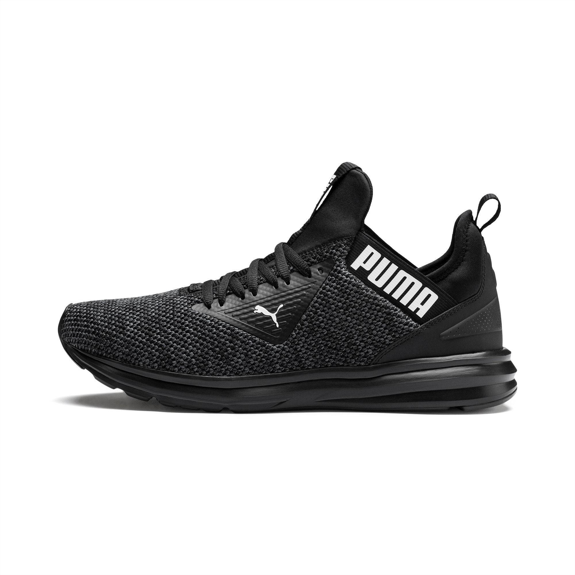 Enzo Beta Woven Men's Running Shoes   Puma Black-Asphalt   PUMA ...