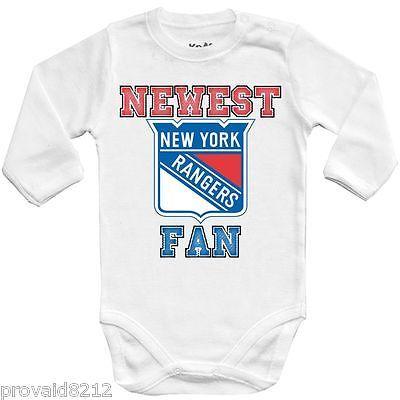 NHL New York Rangers Personalised BabyGrow OnePiece Bodysuit Vest Hockey