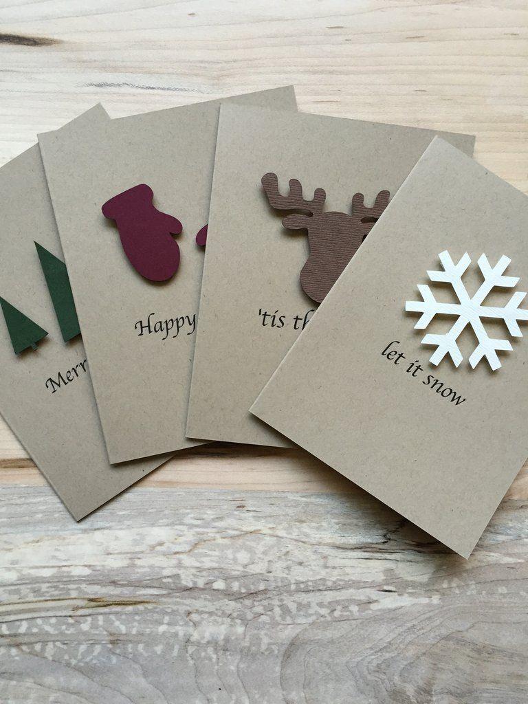 Rustic Holiday Card Set | Boxed Set of 8 | Xmas Crafts | Pinterest ...