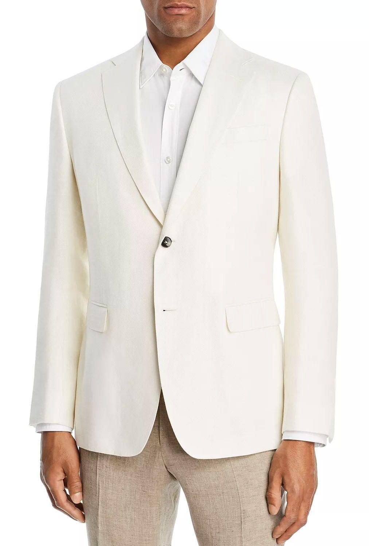 Z Zegna Wool & Linen Textured Slim Fit Sport Coat 100