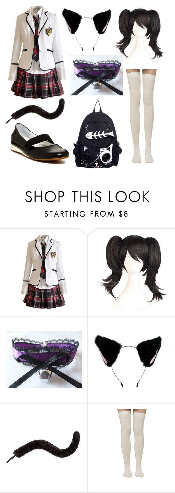 Neko anime school girl