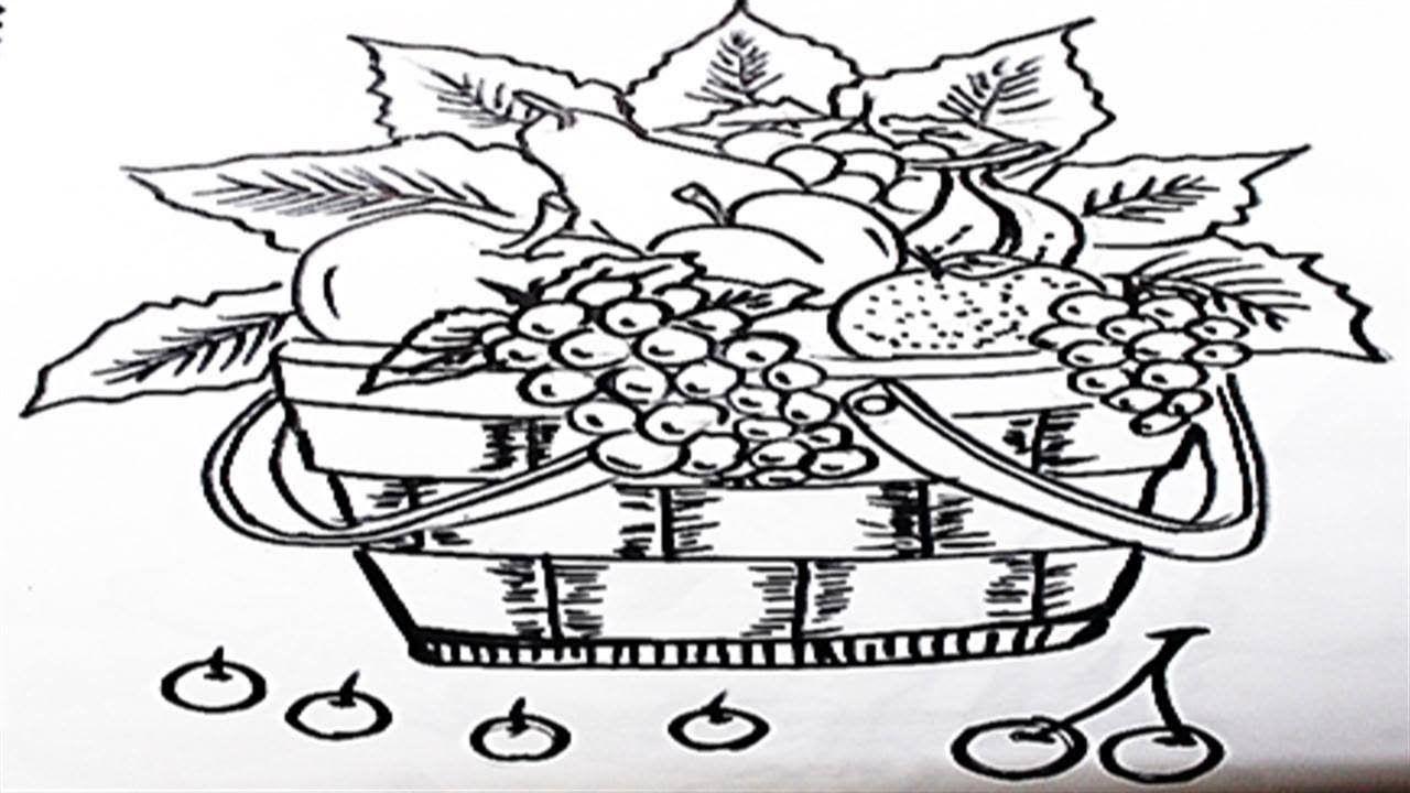 الدرس 13 تعلم رسم سلة فواكه Lesson 13 Learn Drawing Fruit Basket Stuff To Buy