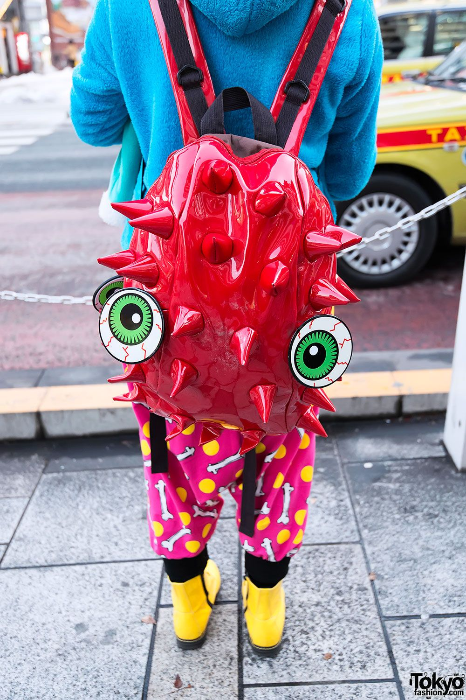 BACKPACK / Tokyo Fashion / Spikey Backpack & Bloodshoot Eyeballs