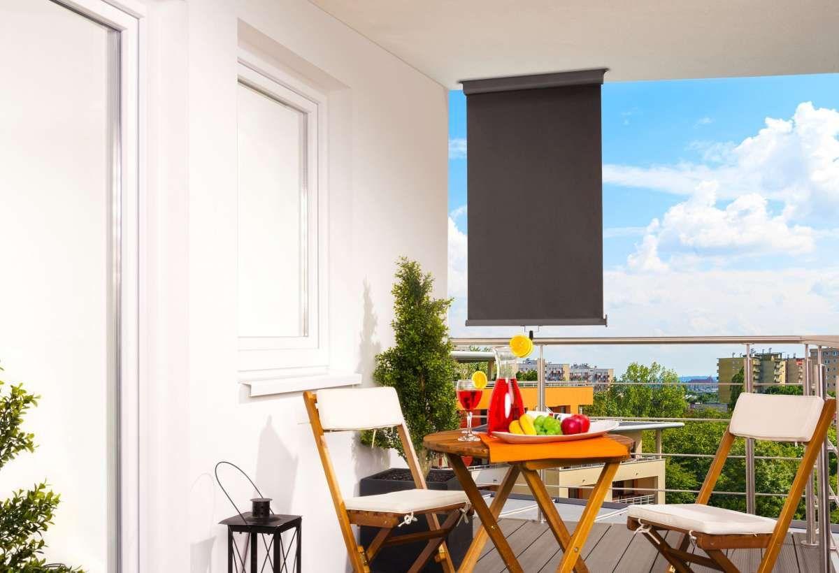 Hecht Balkon Markise 80x300cm Anthrazit In 2020 Markise