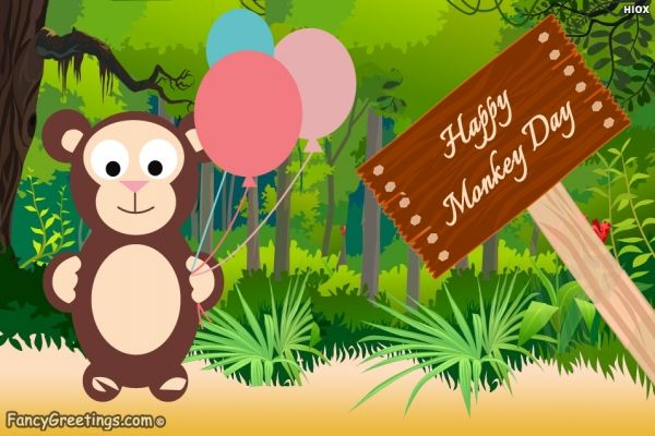 World monkey day is celebrated on December 14 every year. Send greeting to  all and