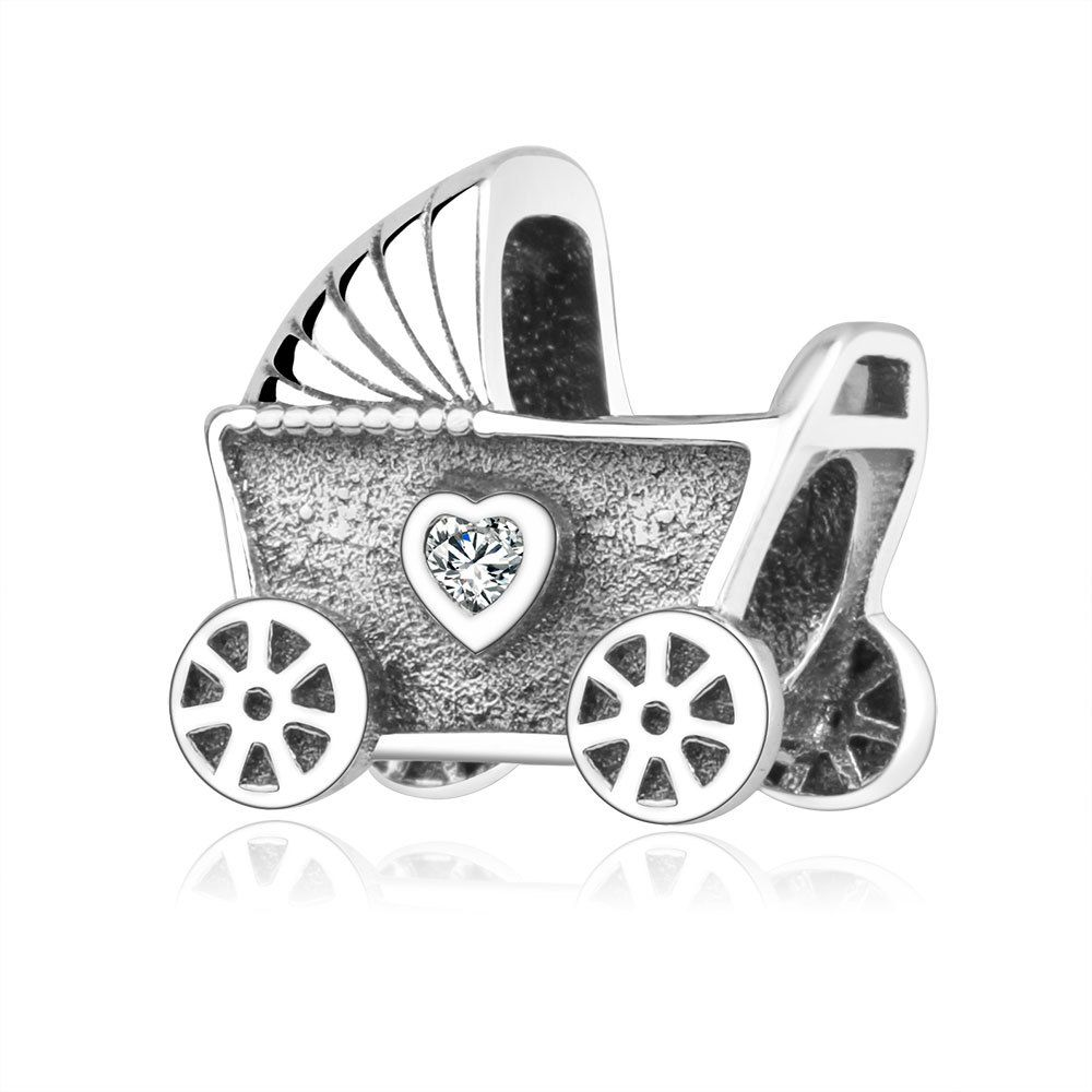 Baby Pram Pandora Charm Newest 100 925 Sterling Silver Beads Baby Carriage With