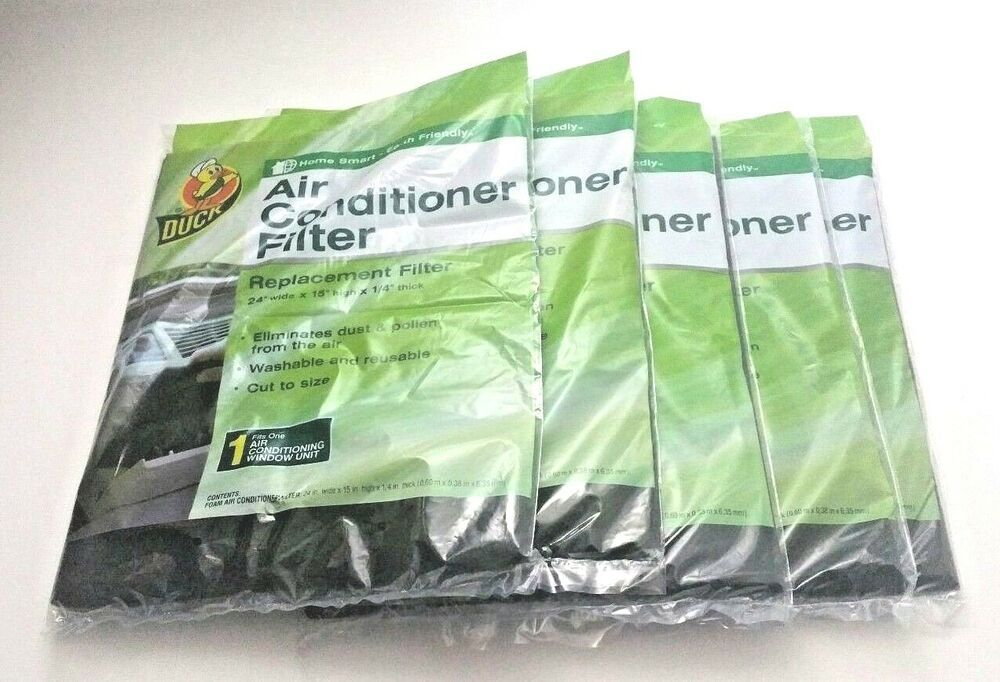 """Duck Brand Replacement Air Conditioner Foam Filter 24"""" x"""