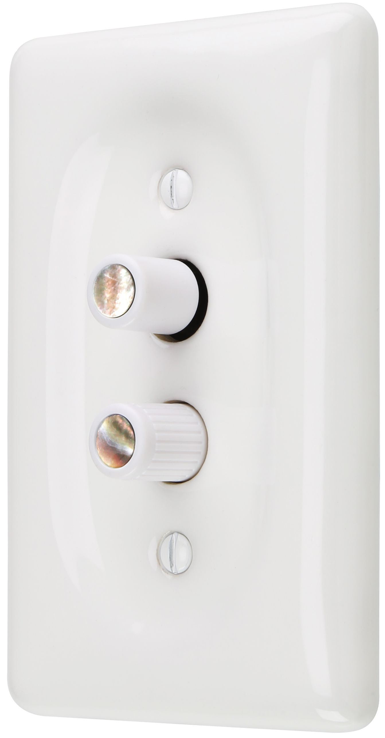 Premium 3 Way White Push Button Light Switch With True Mother Of Pearl Buttons In 2020 Light Switch Antique Hardware White Porcelain