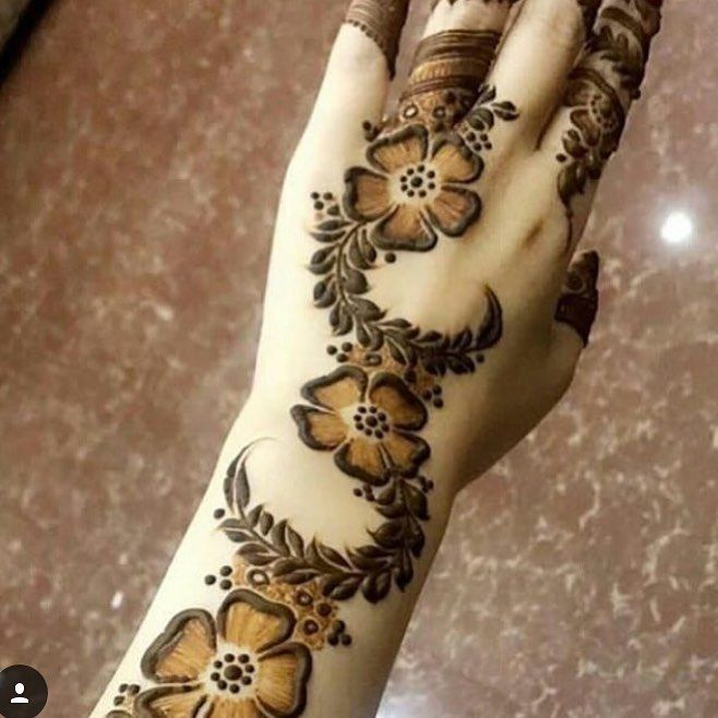 988 Likes 10 Comments حساب خاص لعرض صور الحناء 7ana Design On Instagram شو رايكم بالحناء ال Floral Henna Designs Mehndi Designs Henna Designs Hand