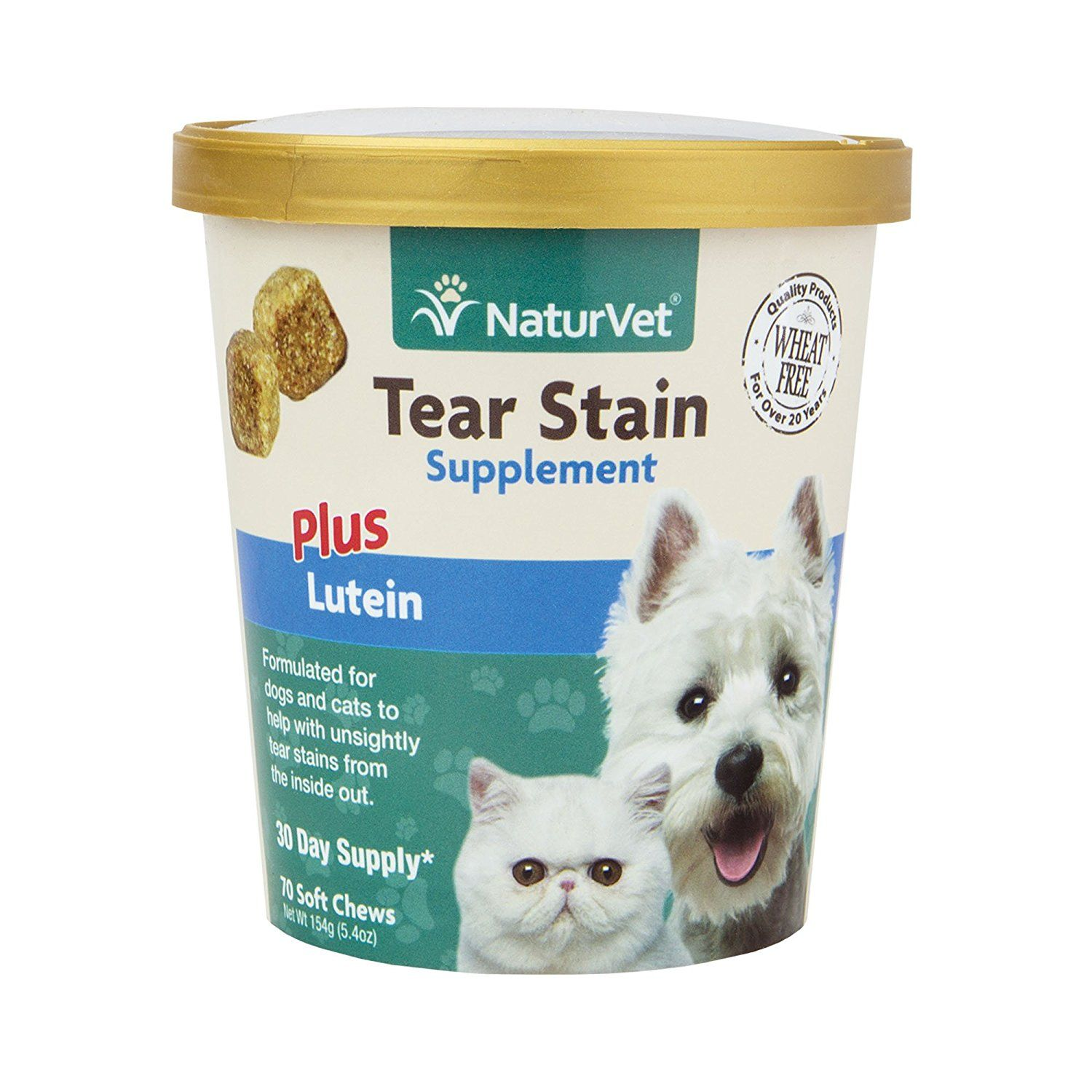 NaturVet Tear Stain Plus Lutein Soft Chew 70ct * Find