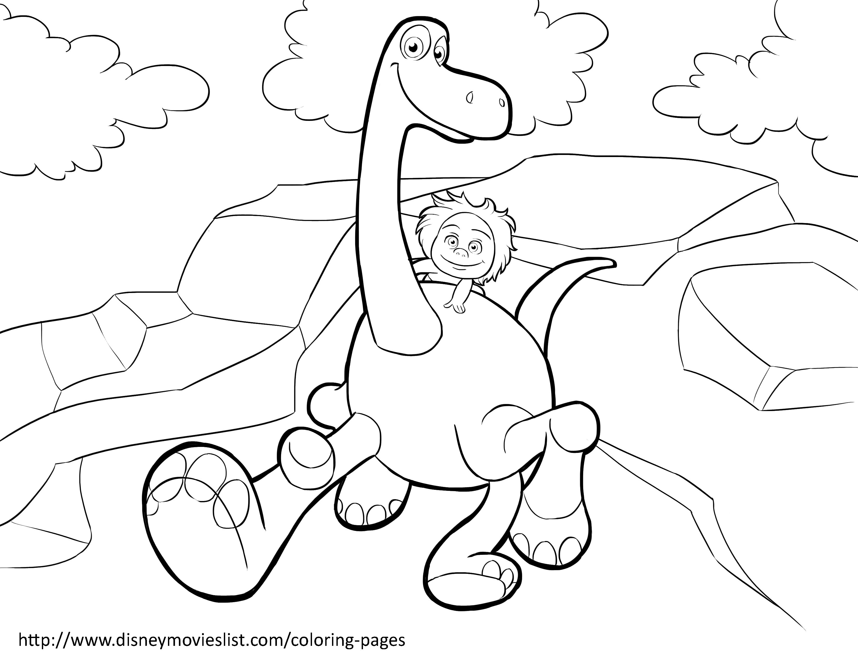 Disney S The Good Dinosaur Coloring Pages Sheet Free