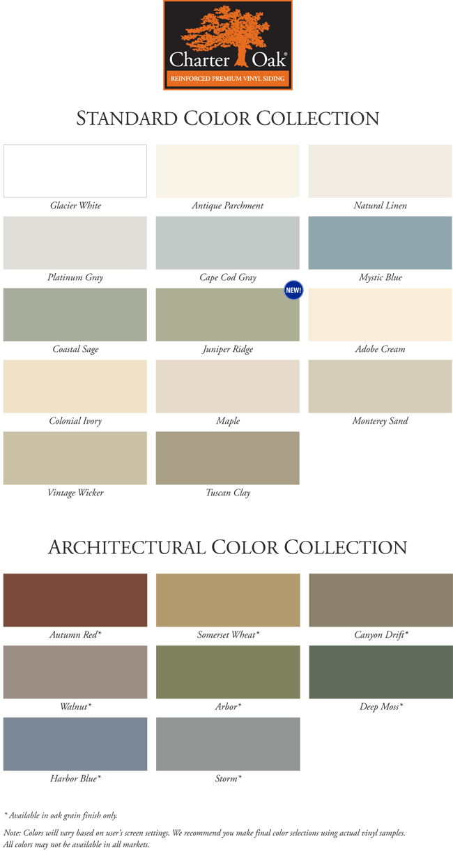 Alside Siding Charter Oak Colors Vinyl Siding Vinyl Siding Colors Siding Colors