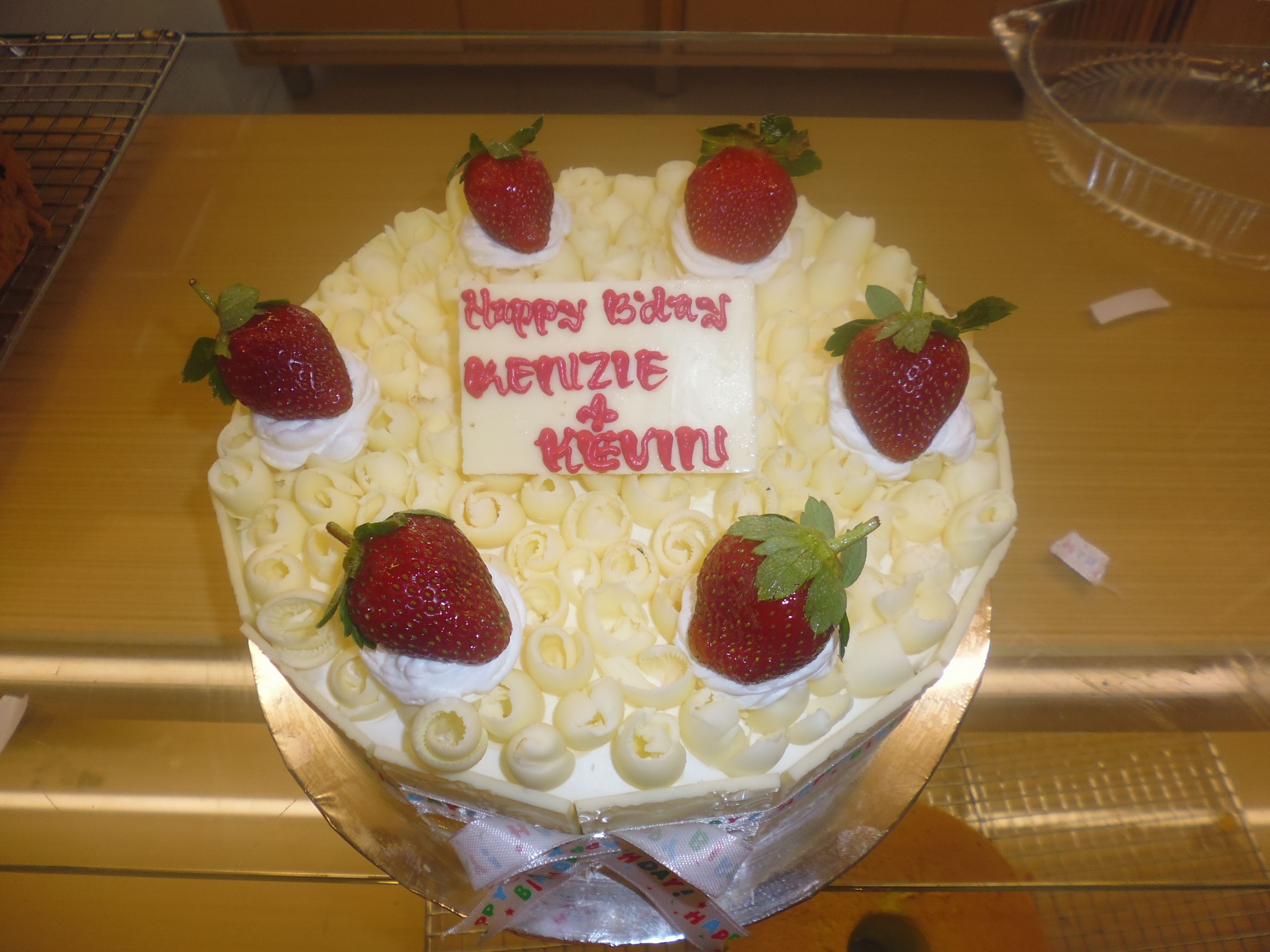 Birthday Cake White Forest Feat Strawberry Made By