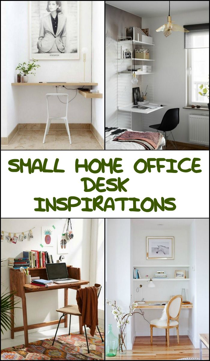 How beautiful are these small home office desk ideas? Do you know ...