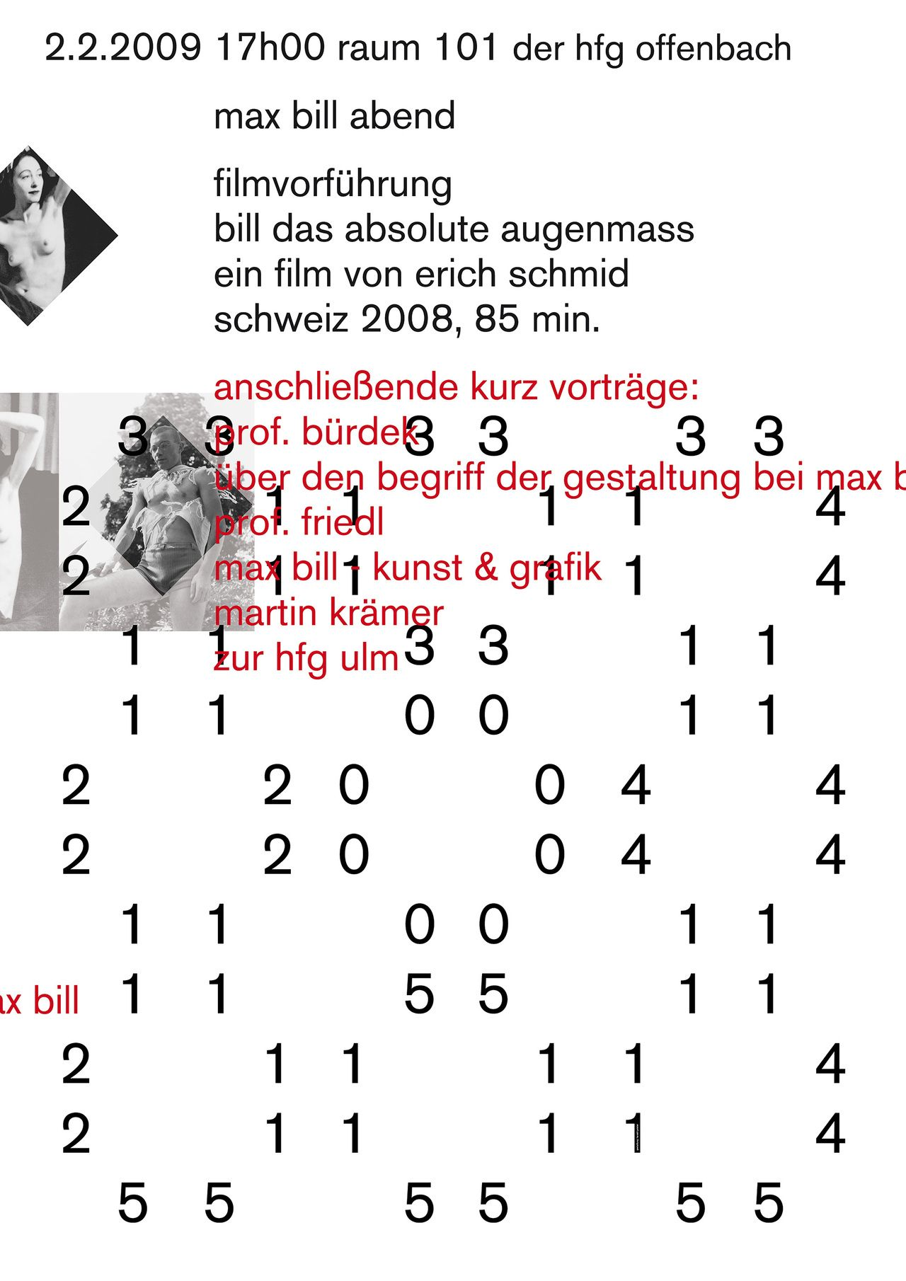 Harald Geisler, Max Bill - Lecture Poster