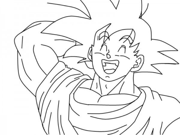 Imgenes de Goku y sus transformaciones para colorear  Colorear