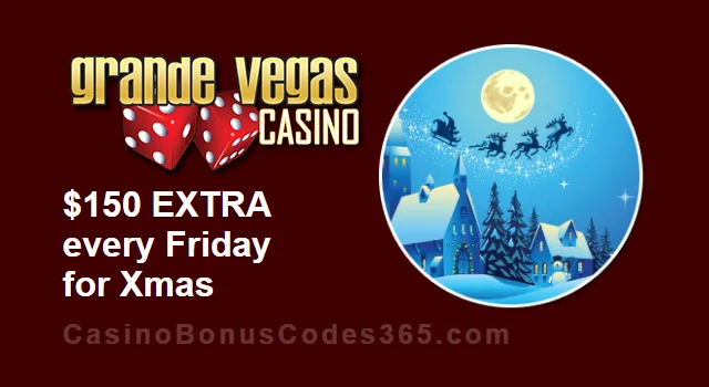 Grande Vegas Casino $150 FREE Extra Chip Every Friday till Xmas | Casino Bonus…