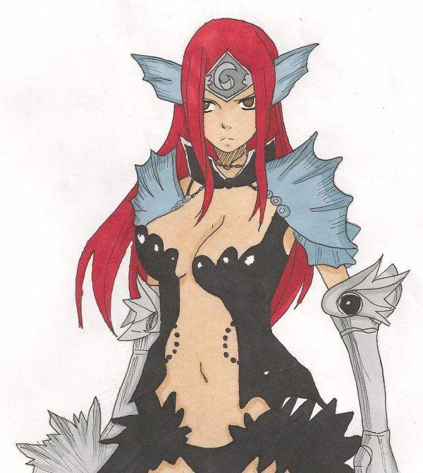Dessin d 39 erza de fairy tail dessins manga papier comment dessiner pinterest - Dessiner fairy tail ...