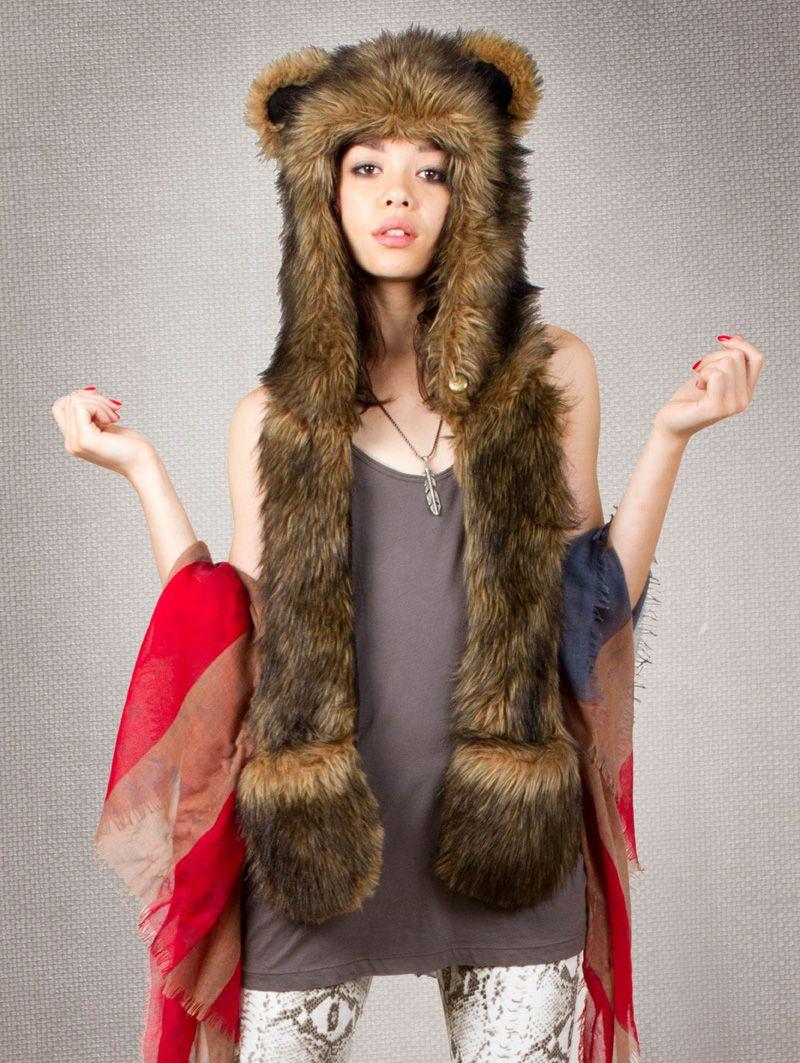 25bbc21cd1d Spirit hood    ADULTS    Women s Full Hoods    Grizzly Bear