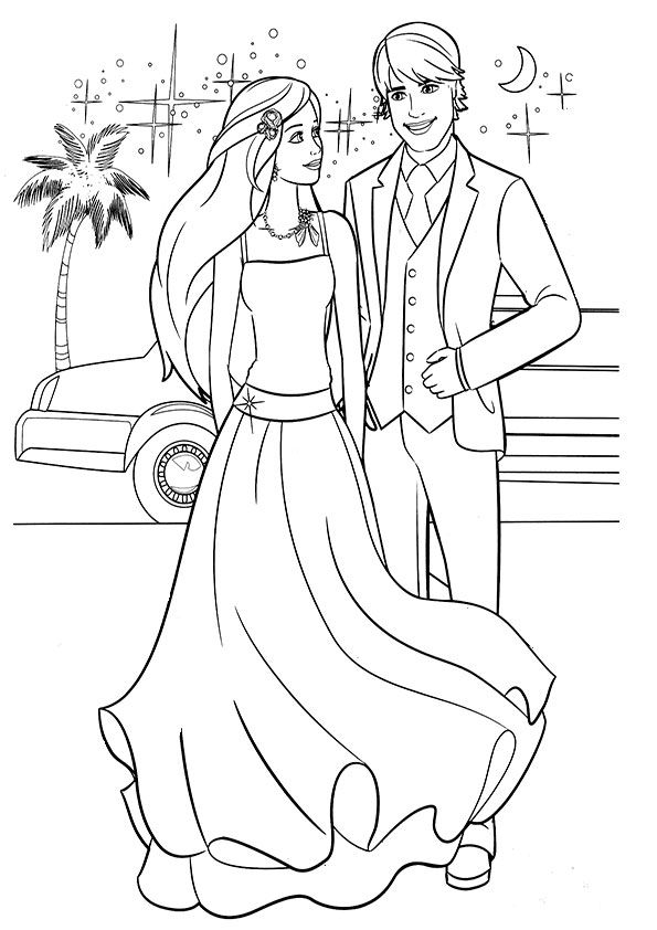 Ausmalbilder Barbie Mit Ken 18 Coloring Pages Ausmalbilder