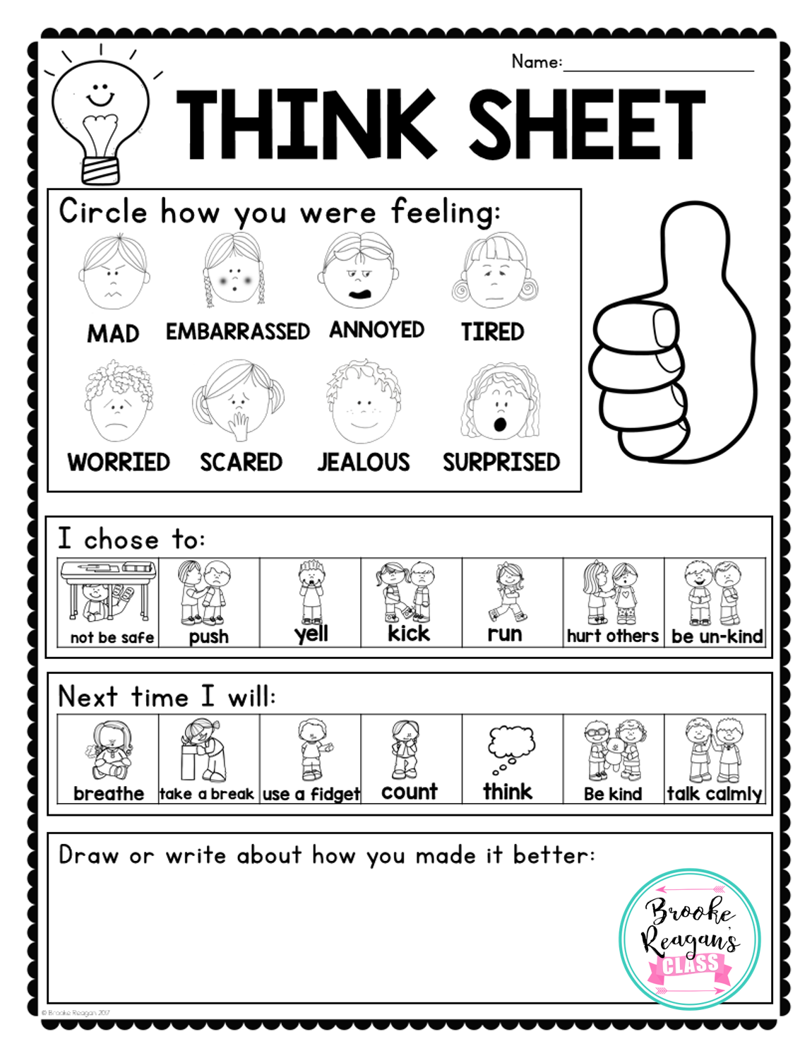 Calm Down Tool Kit | Reading, Writing, and Arithmatic | Pinterest ...