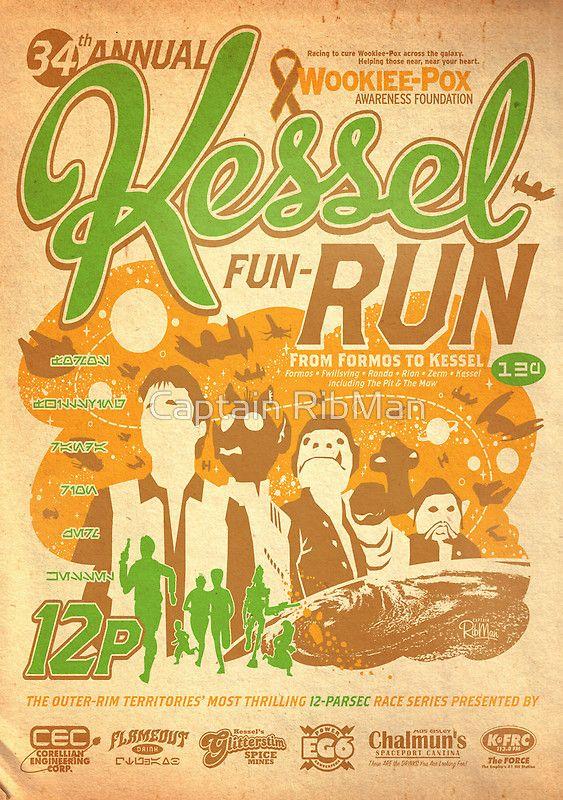 Kessel Fun-Run (12-Parsec Race to Cure Wookiee-Pox)' Poster