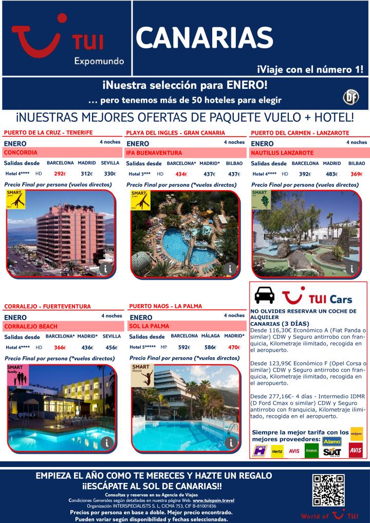 Nuestras mejores ofertas vuelo + hotel en Canarias. Precio final desde 292€ ultimo minuto - http://zocotours.com/nuestras-mejores-ofertas-vuelo-hotel-en-canarias-precio-final-desde-292e-ultimo-minuto-3/