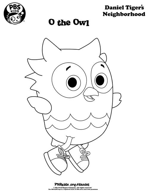 Coloring Daniel Tiger S Neighborhood Pbs Kids Printables