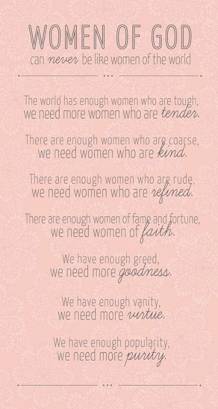Women of God, read this!!!