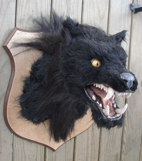 Halloween Decor Werewolf Head Big Scary Werewolves And