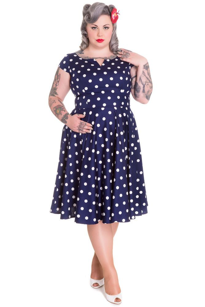 f9951ad42a5 Hell Bunny Antoinette Dress-Plus Size NWT Sizes 2X-4X  HellBunny  Pinup   Casual