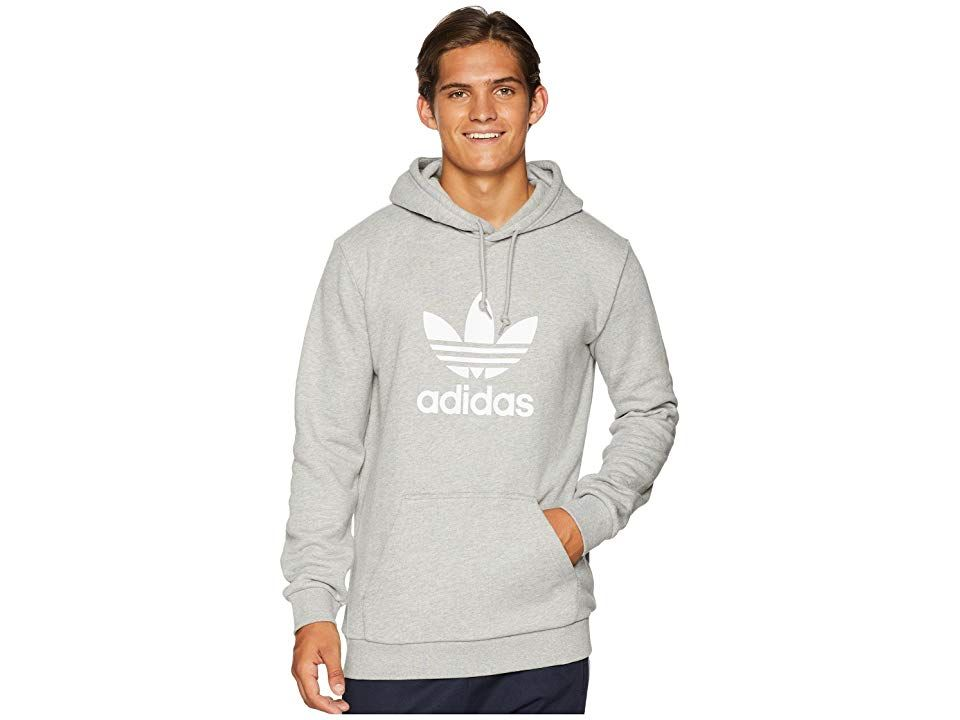 adidas Originals Trefoil Hoodie (Medium Grey Heather) Men s Sweatshirt.  Stand out and stand 10a5ddd8e4