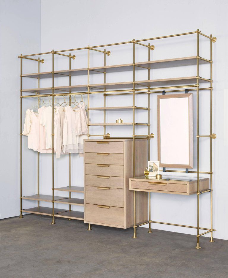Amuneal S Collector S Wardrobe Vanity 4 Bay Unit Wardrobe Furniture System Furniture Closet Designs