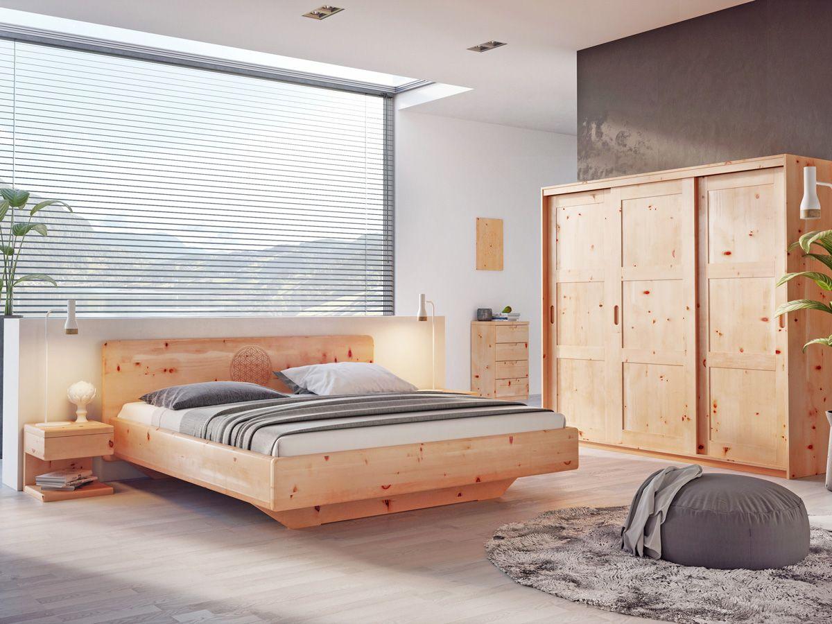 Zirbenschlafzimmer mit zirbenbett valentina for Bett yin yang