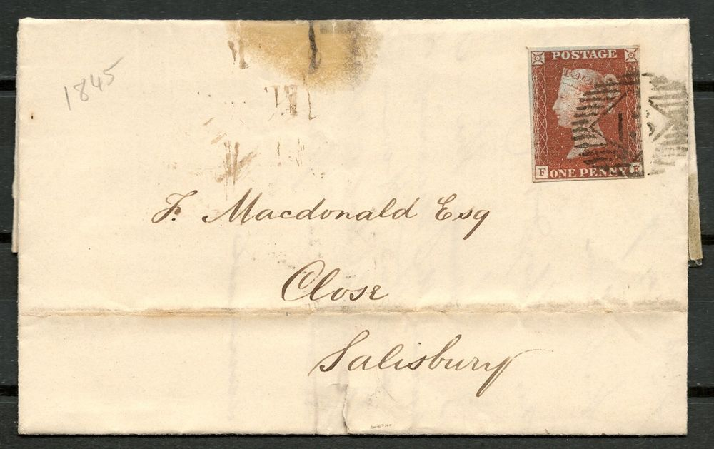 Gb Qv  CoverLetter D Red Letters Ff To Salisbury Nice