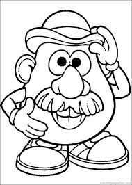 image result for mr and mrs potato head toy story colouring