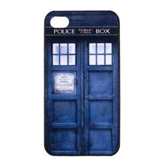 san francisco 7407c f54aa WIPODS® - Doctor Who iPhone 4 Case - Tardis Dr Who Hard: Amazon.co ...