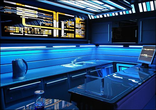 Marvelous This Is Tony Alleyneu0027s Kitchen In The London Flat He Renovated As A Star  Trek Homage. Sadly, He May Have Been Forced Out As A Result Of His Divorce.