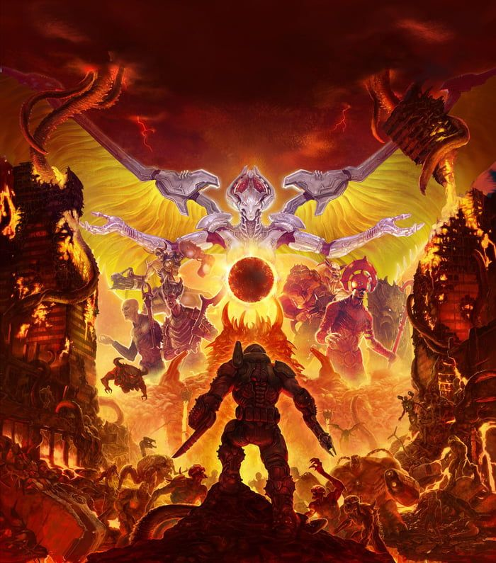 Guys. This DOOM Eternal artwork... It's the official