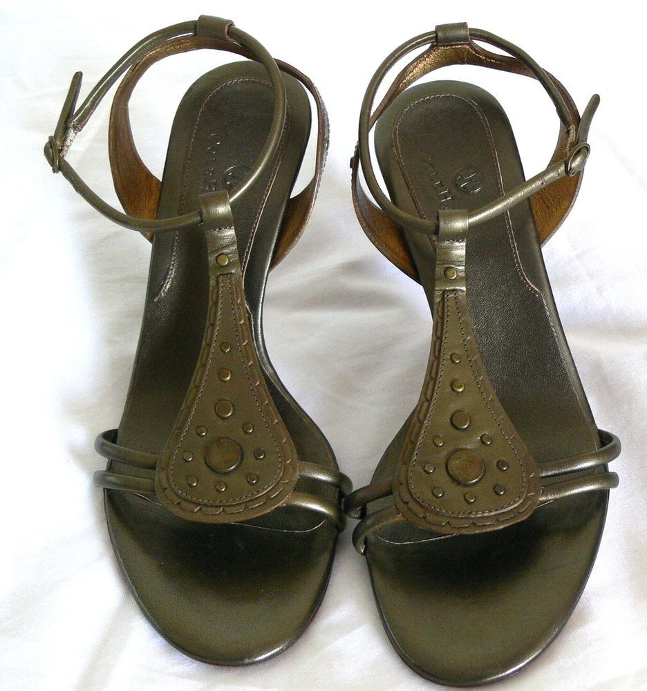Cole Haan Shoes Women's Army Calf Ysabel Leather Strappy Sandals Size 7.5B
